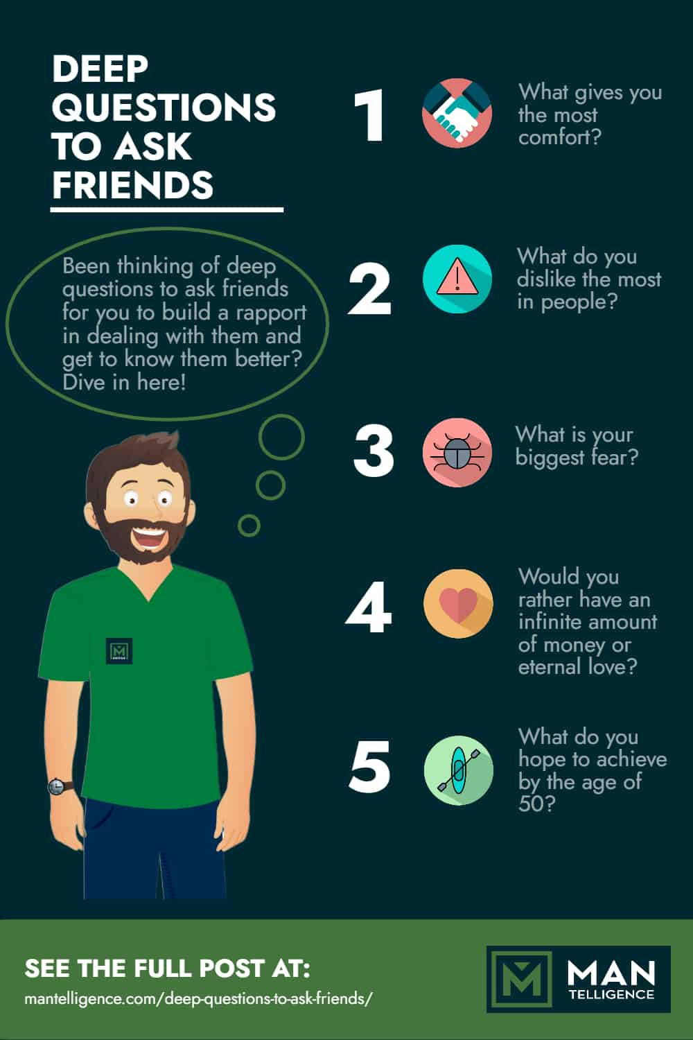 Deep Questions To Ask Friends - Infographic
