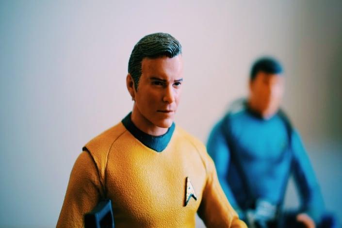 Action figure of Star Trek character