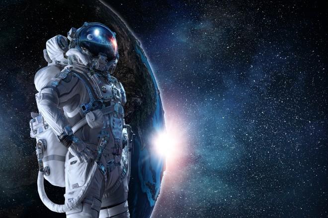 An astronaut in outer space - Star Trek trivia