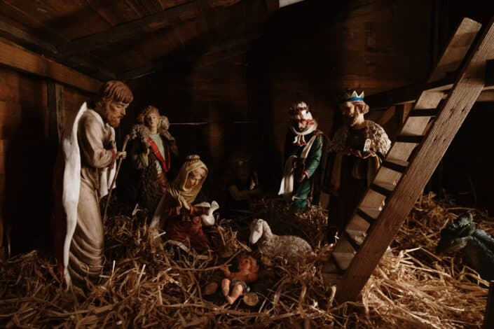 The three kings visited the newborn Jesus.