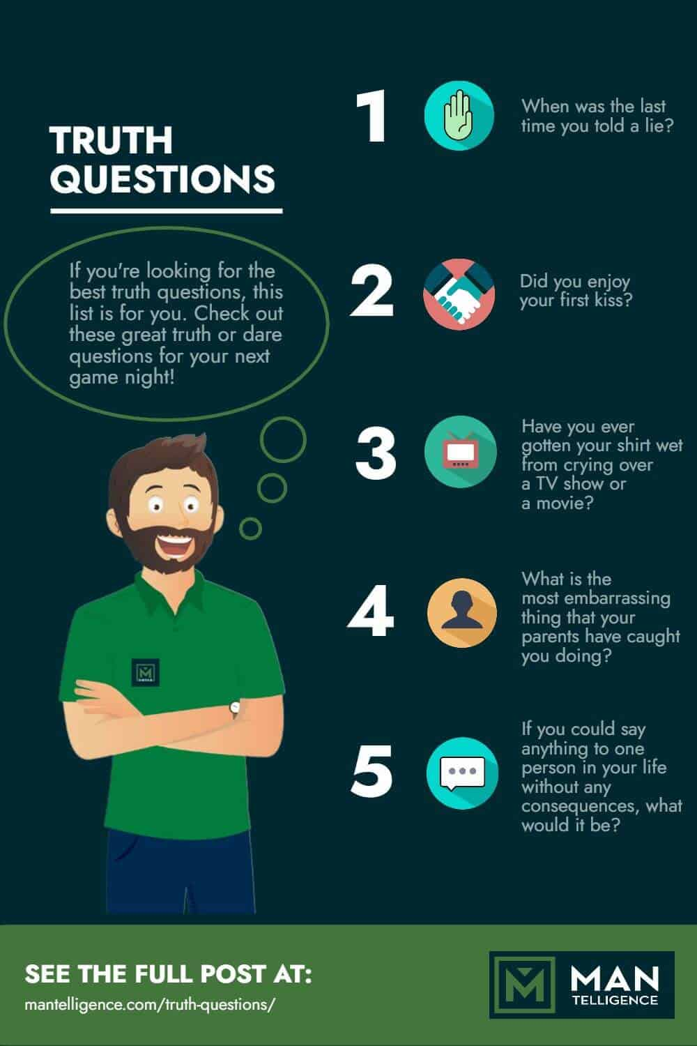 Truth Questions - infographic