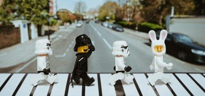 lego star wars walking on abbey road