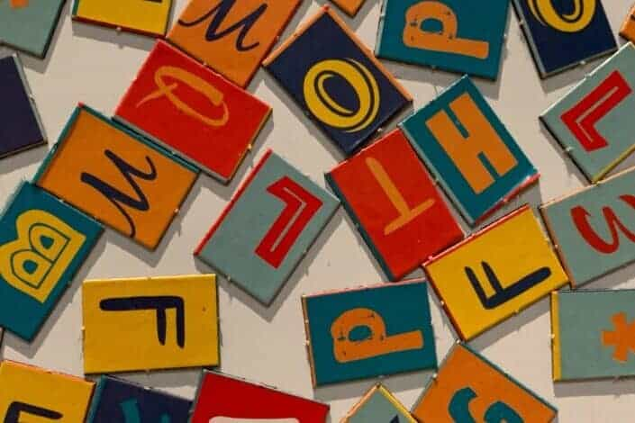 Letters written on random pieces of squared board