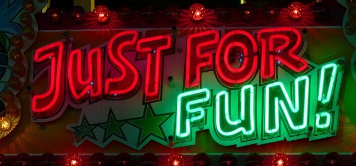 Just for fun lighted signage