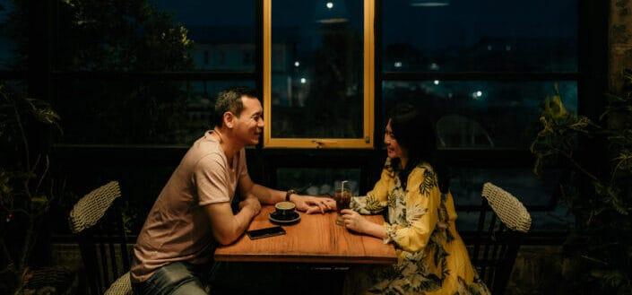 Couple having dinner date