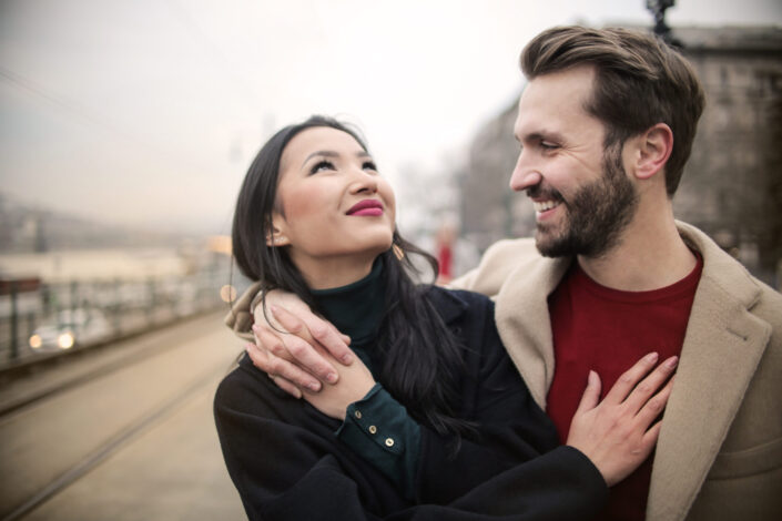 Couple having seriously conversation