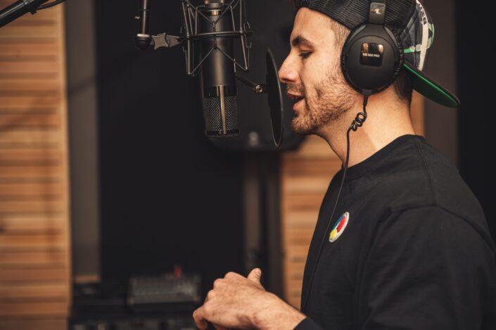 Man on a recording studio