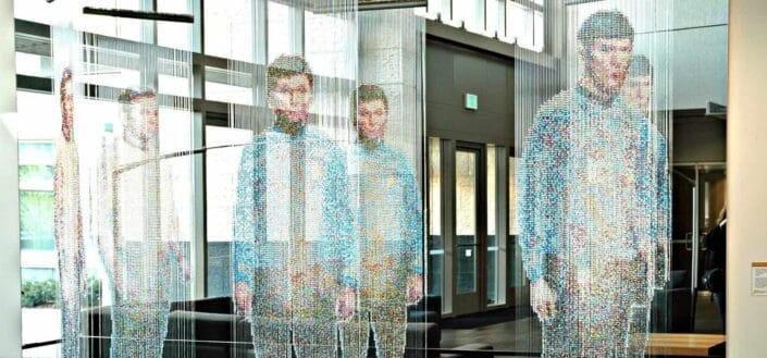 Hologram images of men