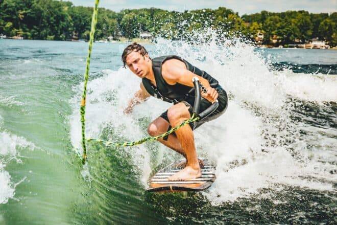 Man wakeboarding - gamma male