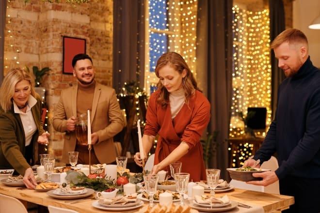 Holiday trivia - Family Preparing for Christmas Dinner