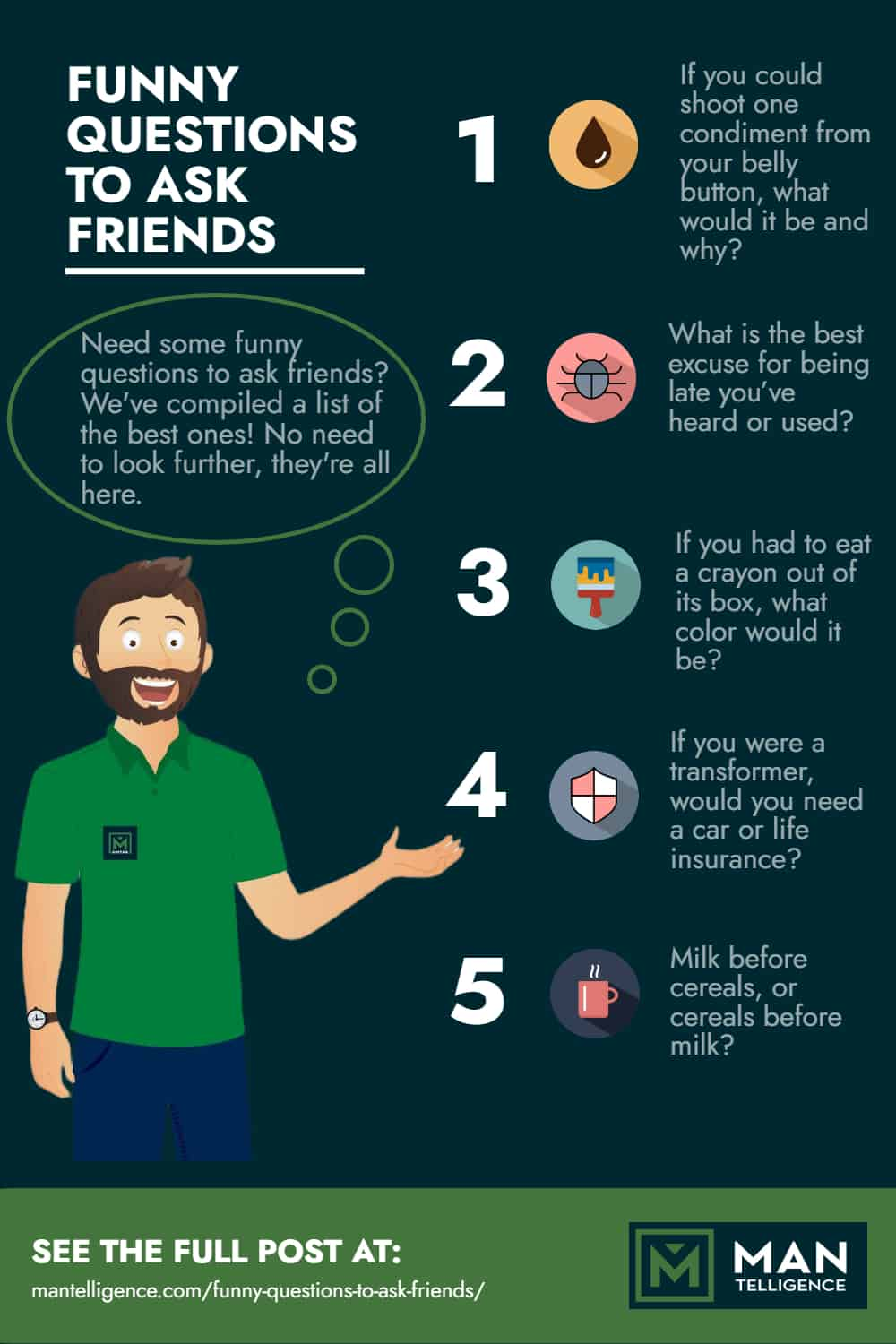 Infographic - Funny Questions To Ask Friends