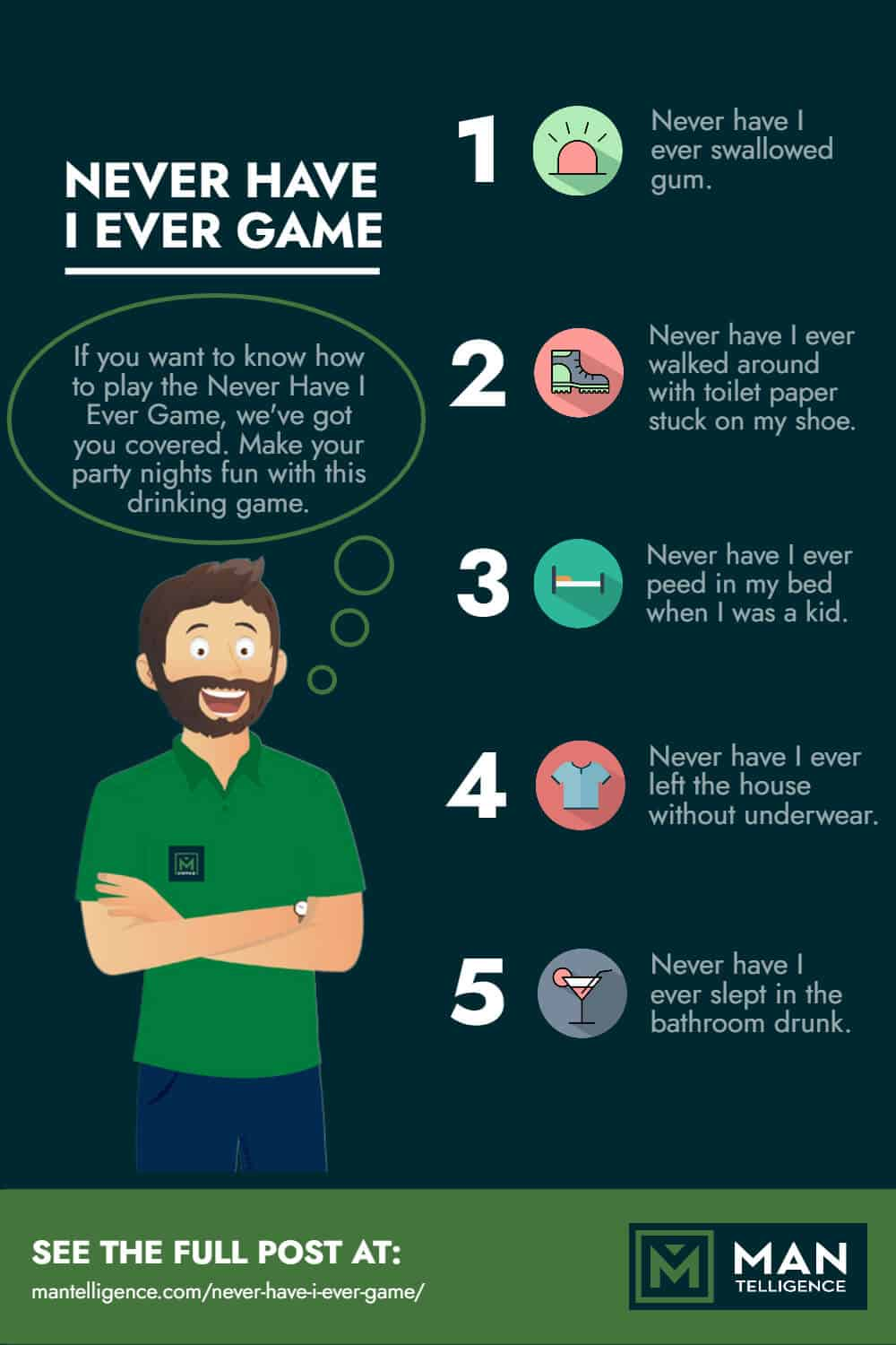 Never Have I Ever Game - infographic