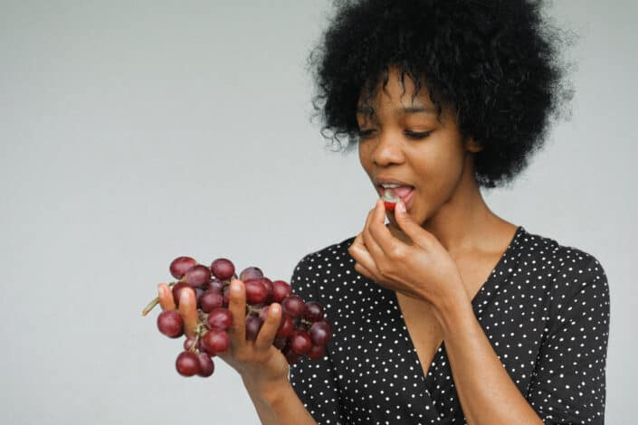 39. See how many grapes you can stuff in your mouth.