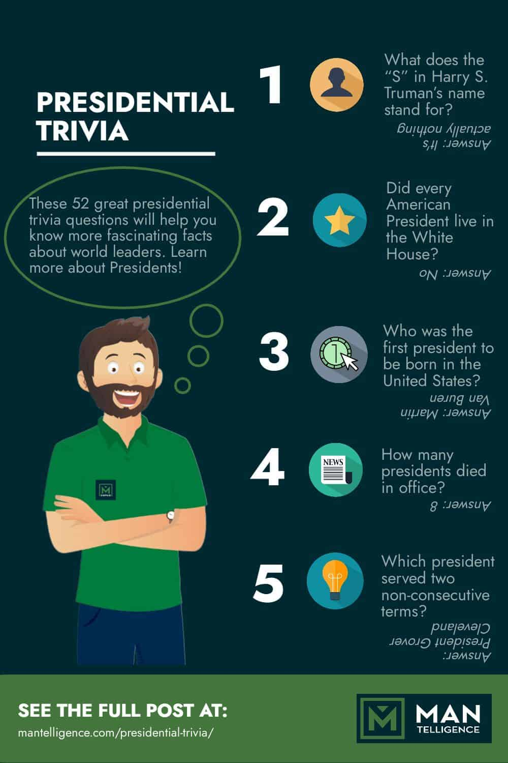 Presidential Trivia - Infographic